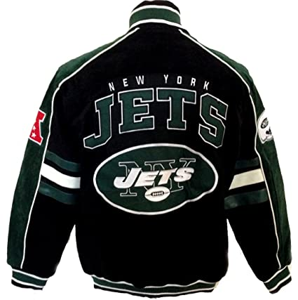 reputable site ab980 2b085 New York Jets Jacket Suede Leather NFL Jets Coat Apparel asst sizes (M)