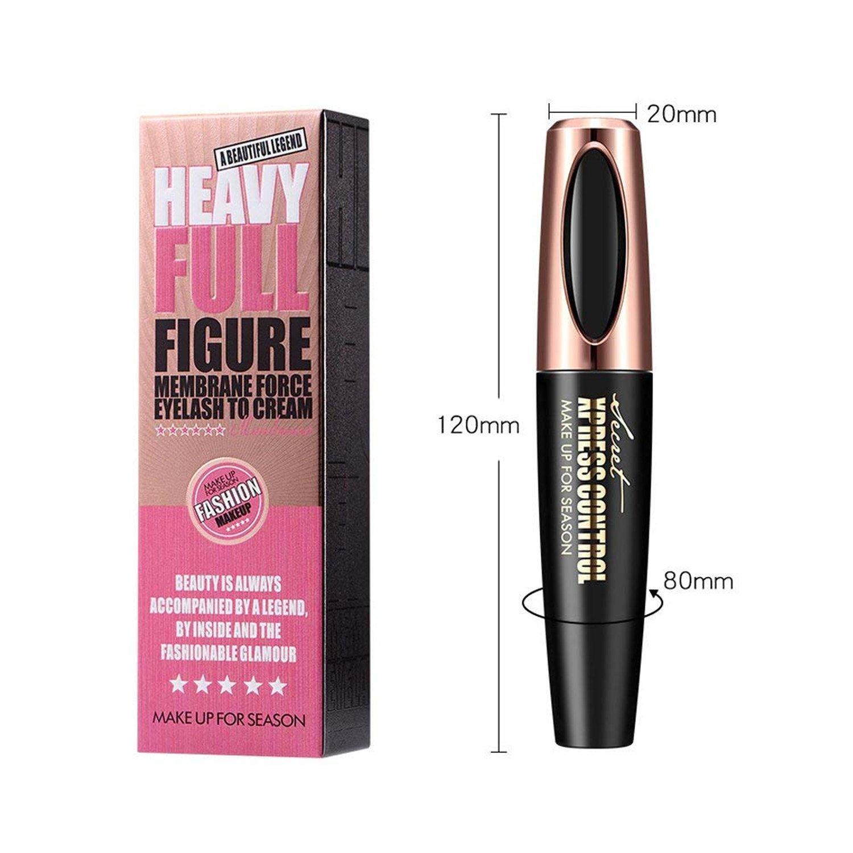 70fc4094a41 Amazon.com : 4D Silk Fiber Lash Mascara - Waterproof Makeup Eyelash  Extension Mascara Cream - Crazy Long Washable Mascara - Best for Thickening  ...