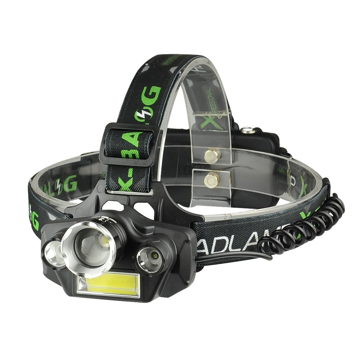 LED Headlamp Flashlight, USB Rechargeable LED Headlamp- Waterproof & Comfortable Headlight, Battery Powered Helmet Light, 8000 Lumen 4 Light 5 Modes Super Bright by KAILEDI. (Image #1)