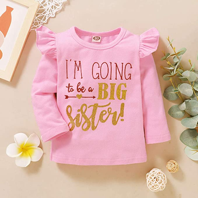 Toddler/Baby/Girls/Romper Im Going to Be Big Sister T-Shirt Infant Shirt Top