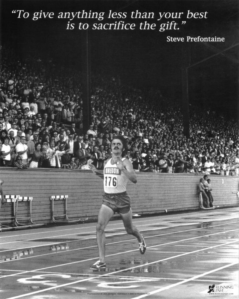 Amazon.com: Steve Prefontaine The Gift Sports Poster Print - Art Poster  Print, 16x13: Posters & Prints