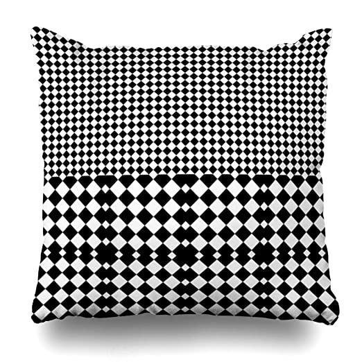 ZiJface Throw Pillows Covers Angular Black White Rhombuses ...