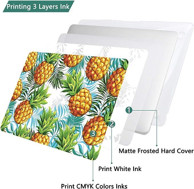 AZERTY Protection Clavier Coque pour MacBook Air 11.6 Pouces A1370 A1465 Fruit Exotique Couverture Plastique Case Cover Coque Rigide Ananas