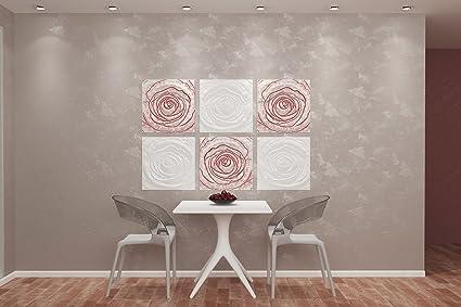 Amazon.com: ROSE 3D WALL PANEL MOLD PLASTER Wall Art Decor ...