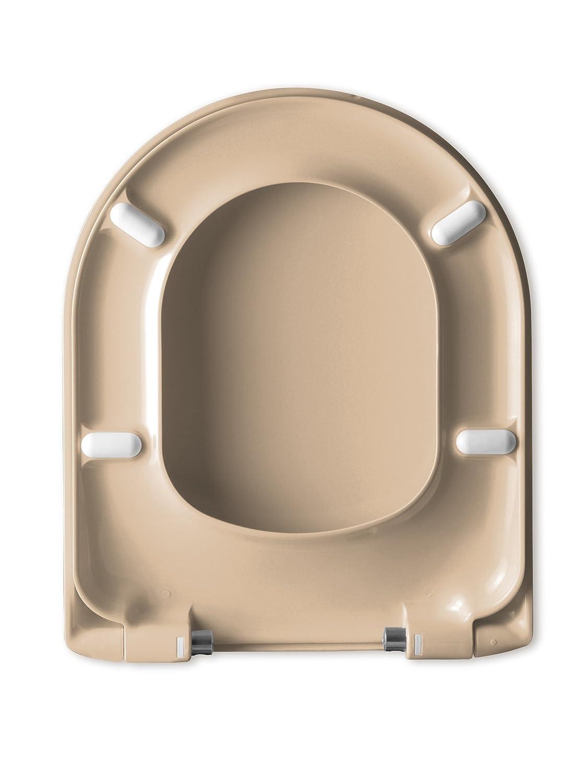 Cedo WC Sitz Savona Beach In Bahama Beige Toilettensitz mit Absenkautomatik//Abnahmefunktion//Duroplast//D-Shape//Befestigung von Oben Haro Sanitary