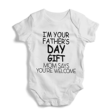 73b9ddf60 Amazon.com  I m your father s day gift- Onesie