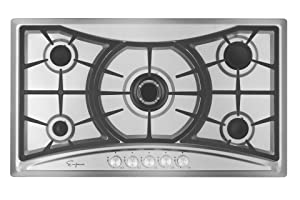 "Empava 36"" Stainless Steel 5 Italy Sabaf Burners Stove Top Gas Cooktop EMPV-36GC202"