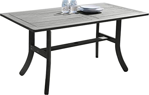 Vifah V1300 Rectangular Wooden Patio Dining Table
