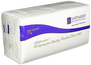 Hoffmaster 180300 Premium Beverage Napkin, Regal Embossed, 2-Ply, 1/4 Fold, 9-1/2