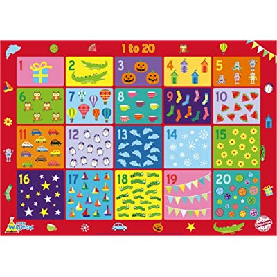 Little Wigwam 1 to 20 Chart No Tear Guarantee Educational Poster (60 x 42cm): Toys & Games