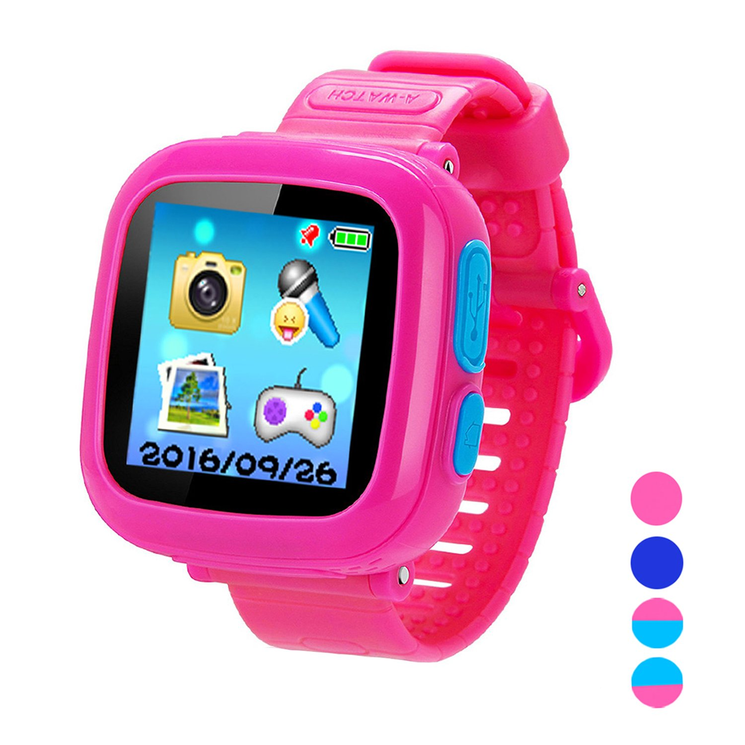Smart Watch for Kids Girls Boys,Smart Game Watch with Camera Touch Screen Pedometer,Kids Smart Watch Perfect Holiday Birthday Toys Gifts (Pink)