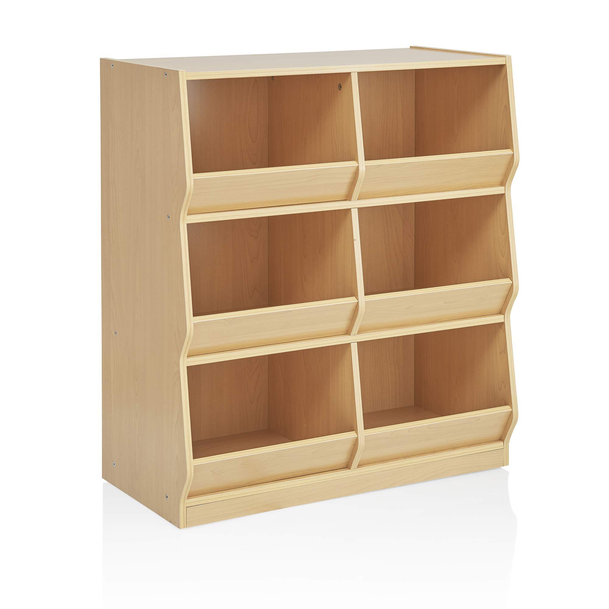 Guidecraft Children's Toy Bin Cubby Organizer - Wooden Storage Shelving Furniture for Classroom Playroom by Guidecraft