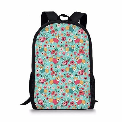 Amazon.com: coloranimal elegante flores perro bolsas de ...