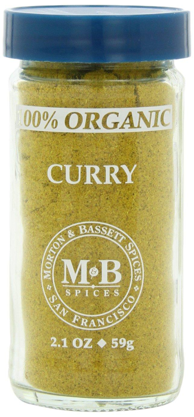 Morton & Bassett Organic Curry, 2.1-Ounce Jars (Pack of 3)