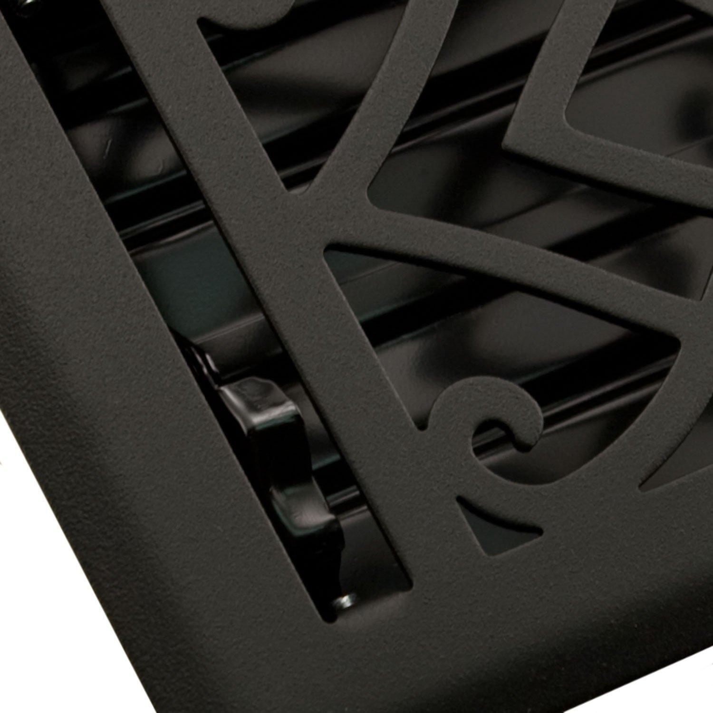 Naiture 2-1/4'' x 14'' Steel Floor Register Victorian Style Black Finish