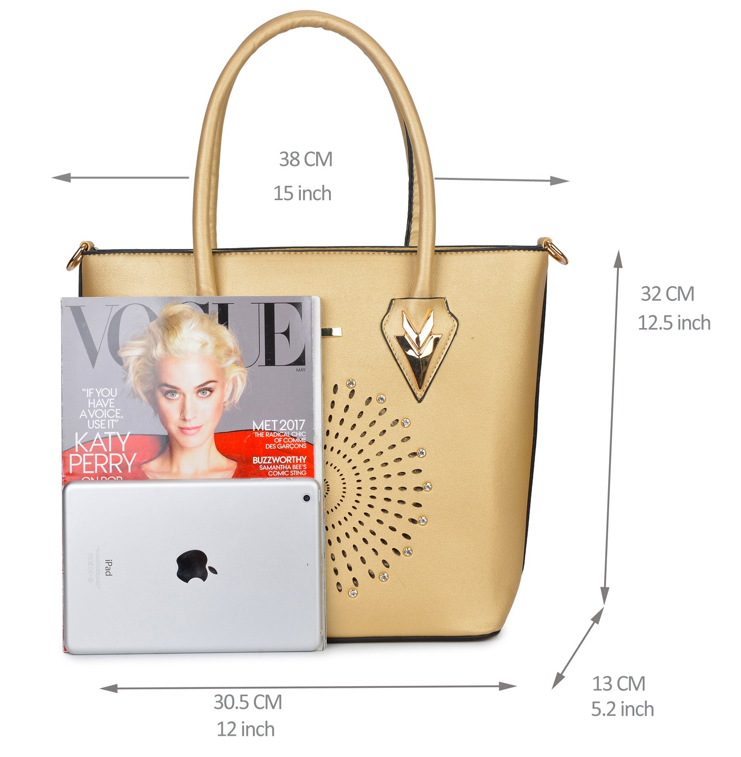 Women Handbag Purse Hobo Faux Leather Messenger Bag Clutch Satchel Bag 3 Piece Gift Set by KasPala (Image #7)