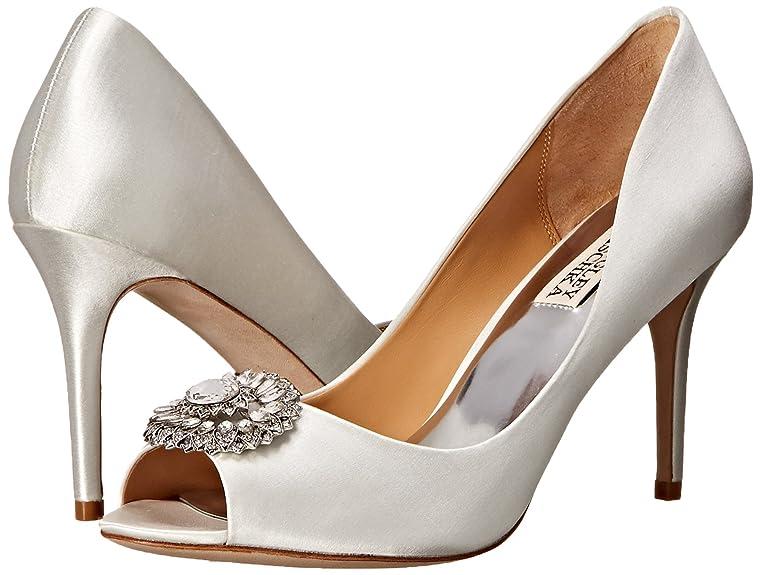 Womens Shoes Badgley Mischka Roanna White Satin