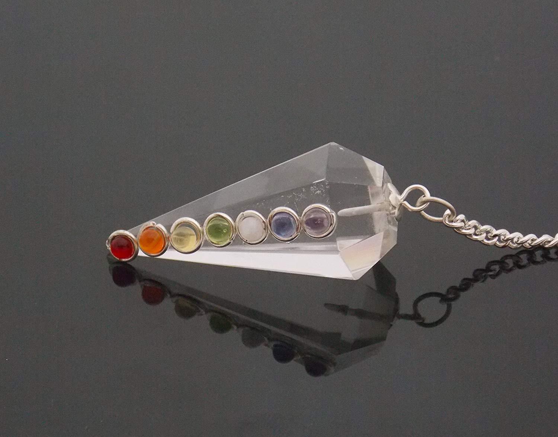Whitewhale Healing Crystal Gemstone Pendulum Dowsing Balancing Reiki Stone Pendulum