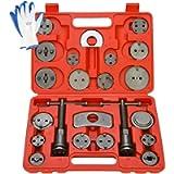8MILELAKE Brake Caliper Wind Back Tool 24pc Professional Disc Brake Caliper Tool Set