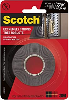 product image for 3M Scotch Extreme Mounting Tape, 1 by 60-Inch, Black, Original