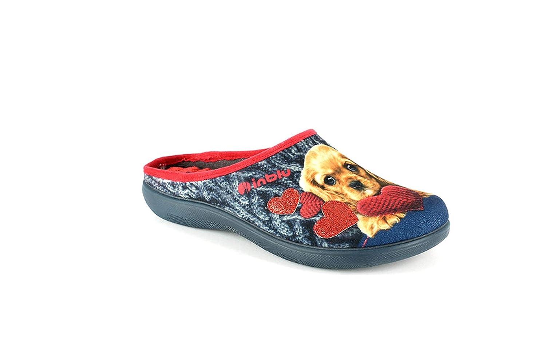 Pantofole Ciabatte inblu Donna da Casa Invernali Chiuse in Tessuto Stampate Alte