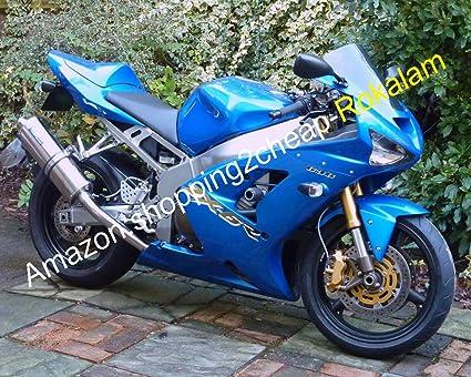 Hot Sales,Blue Moto Carenado para Kawasaki Ninja ZX6R 03 04 ...