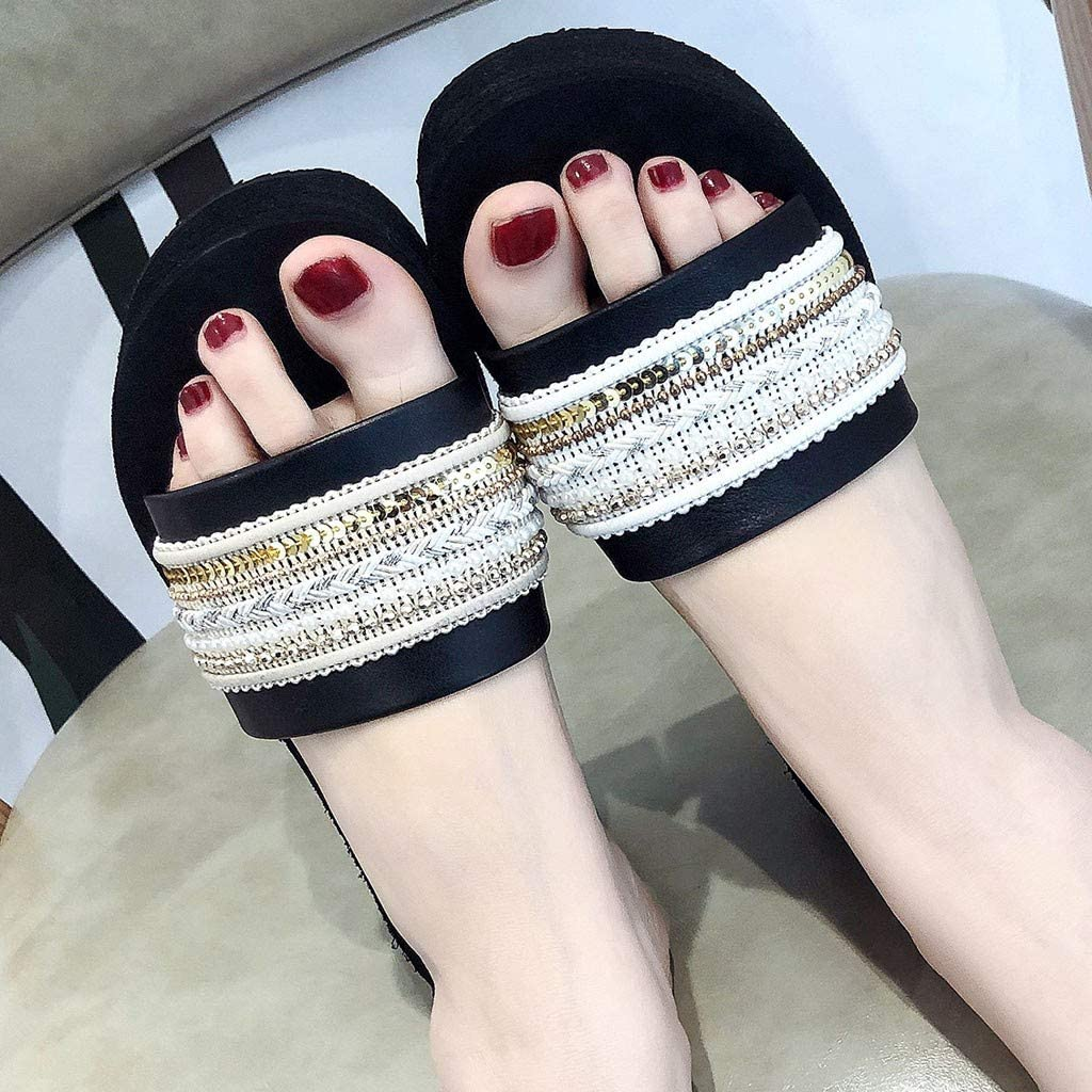 Ws Summer Slippers National Wind Sandals Casual Shoes Beach Walk Shoes Summer Beach Platform//Wedge//High Heel Slippers for Girls W Ladies Indoor Outdoor Under 10 Dollars Clearance