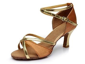 23b363ee8ba VESI-Chaussures de Danse Latine Talons Hauts Sandales pour Femme Beige  34(Talon 5cm