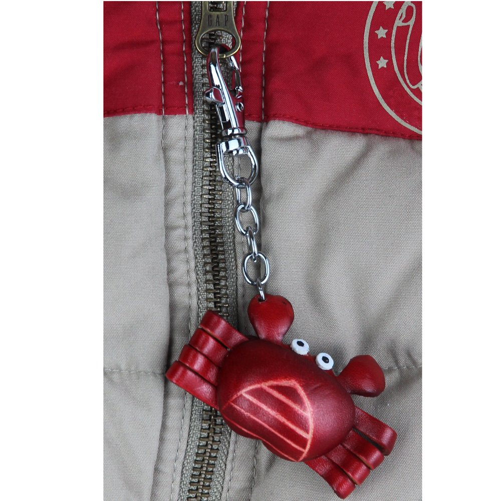 Coat Zipper Pull Accessories – Crab Charm Gift – Crab Gift Clothing Jewelry