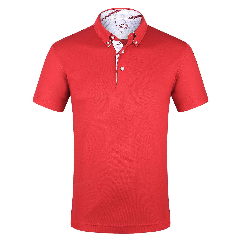 d8bb862cde16 Amazon.com  EAGEGOF Men s Shirts Short Sleeve Tech Performance Golf Polo  Dri-Fit Shirt Standard Fit  Clothing