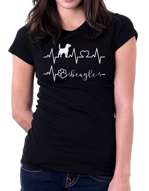 Tshirt Elettrocardiogramma Beagle - I love Beagle - cani - dog - love - humor - tshirt simpatiche e ...