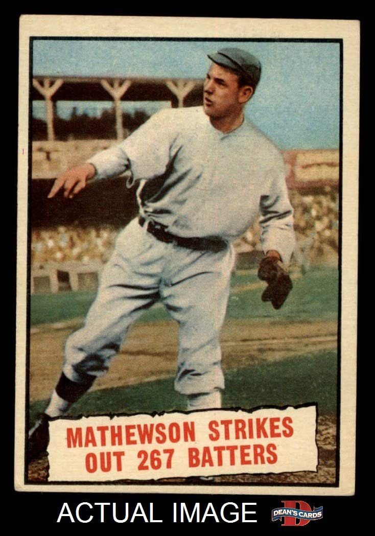 1961 Topps # 408 Baseball Thrills Christy Mathewson San Francisco Giants (Baseball Card) Dean'S Cards 5 - Ex Giants