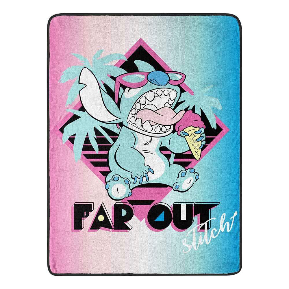 Lilo & Stitch Super Soft Throws - Disney Far Out Stitch 45x60 Blanket by Lilo & Stitch