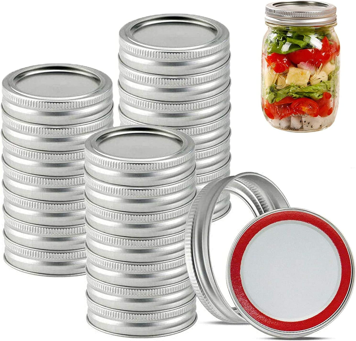 10//20pcs//set Mouth Canning Lids Bands Split-Type Leak Proof For Jar Canning Lids