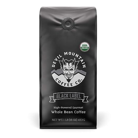"""Black Label"" Dark Roast Whole Bean Coffee, The World's Strongest Coffee"