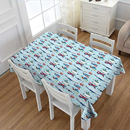 Pricetextile Airplane Dinner Picnic Table Cloth Different Types Of