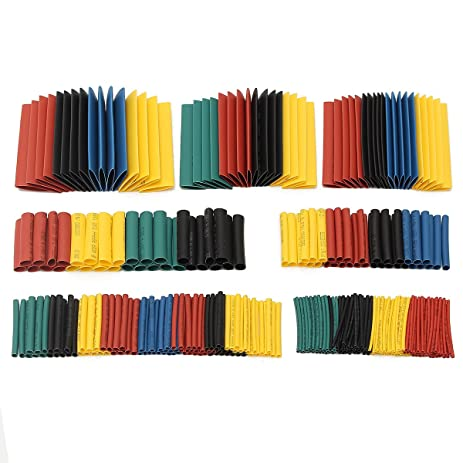 soloop 328pcs 21 heat shrink tubingwire cable wrap electrical insulation tube electric
