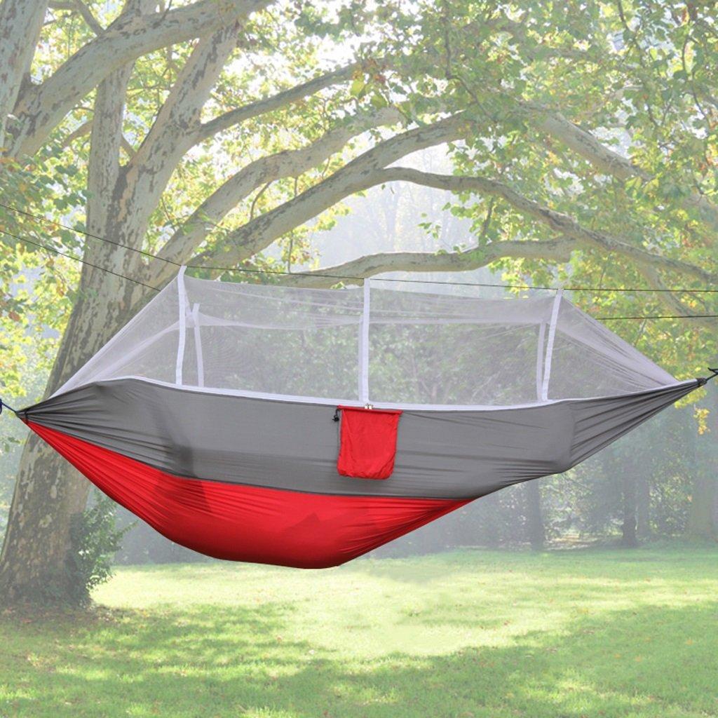 Hängematten Wddwarmhome Outdoor Camping mit Moskitonetz Park Casual Hängesessel (260  140cm) (Farbe : B)