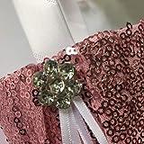 Sequin Glitter Wedding Flower Basket Rhinestone