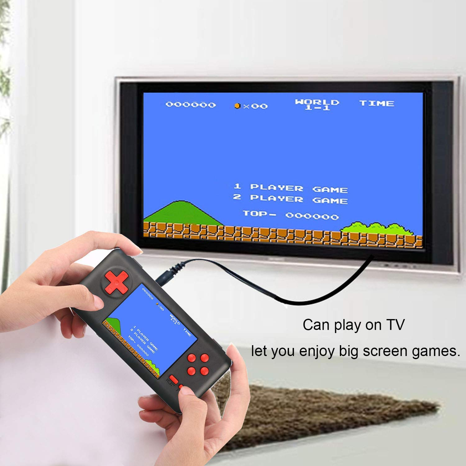 JAFATOY Handheld Games Console Built-in 150 Classic Games 8 Bit Games with AV Cable Can Play on TV Great for Adults Kids (Support TF Card Extensions) by JAFATOY (Image #3)