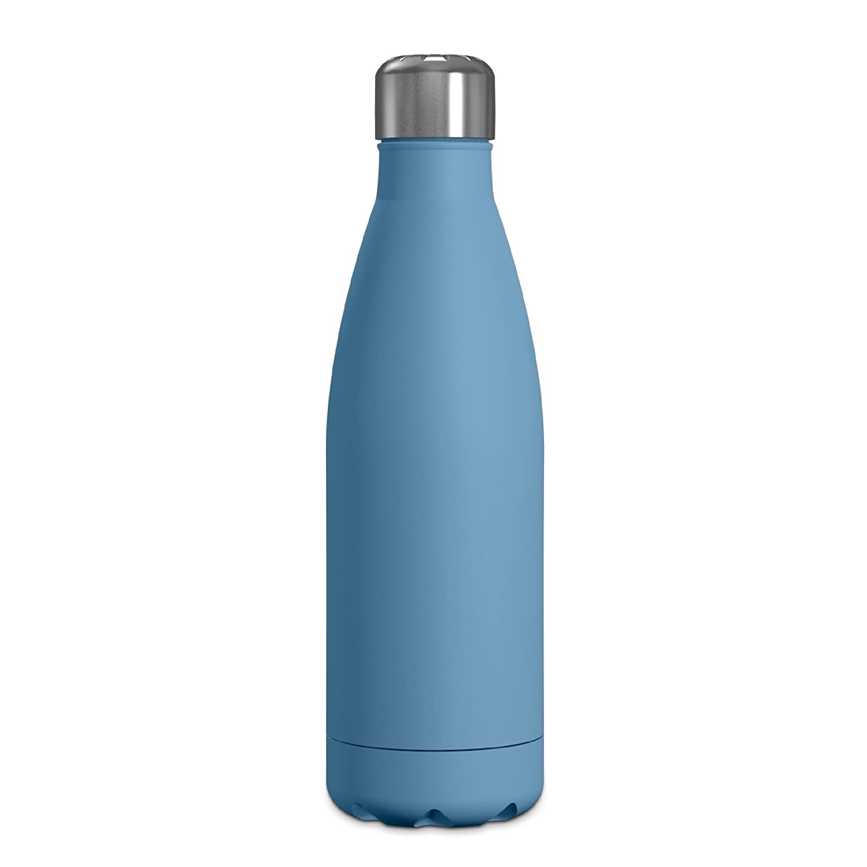 Geoダブル壁、真空断熱ステンレススチールウォーターボトル、16.9オンス、狭い口、ホット&コールド B07C7FY188 ブルー(Pacific Blue)