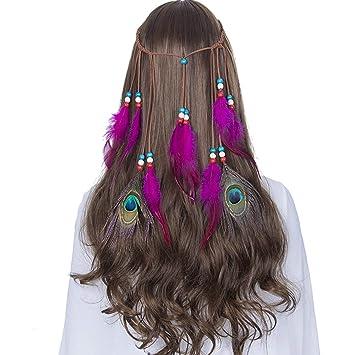 Amazon com : Indian Feather Headband Hair Accessories 2019