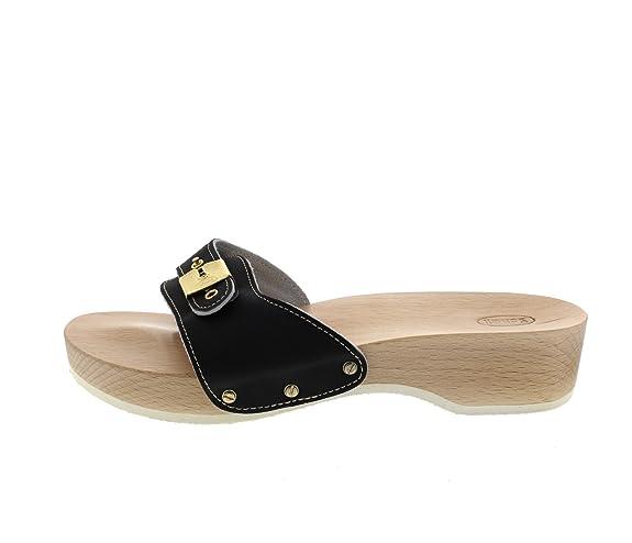 Scholl Schuhe - Pantolette Pescura Heel Sporty - Black, Größe:36