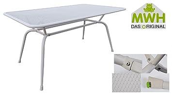 Mwh Tisch Conello 160x90x74cm Grau Streckmetalltisch Gartentisch
