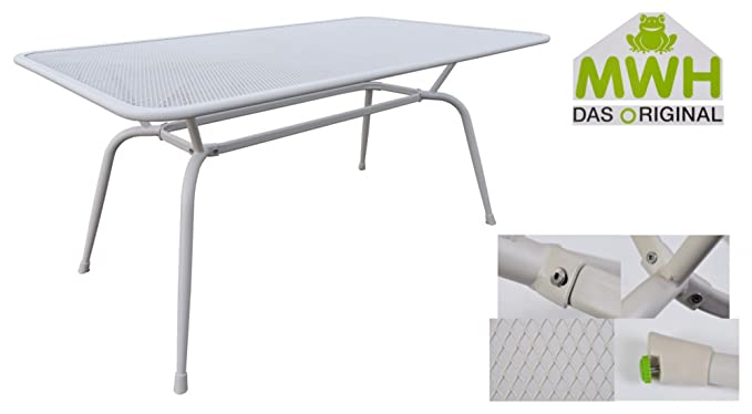 MWH Tisch Conello 160x90x74cm grau Streckmetalltisch Gartentisch ...