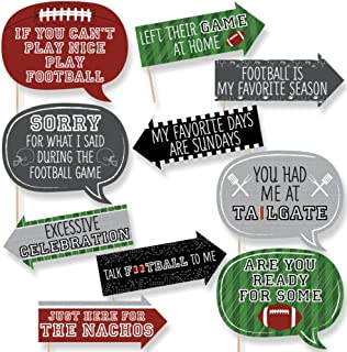 product image for Big Dot of Happiness Funny End Zone - Football - Tailgating Party Photo Booth Props Kit - 10 Piece