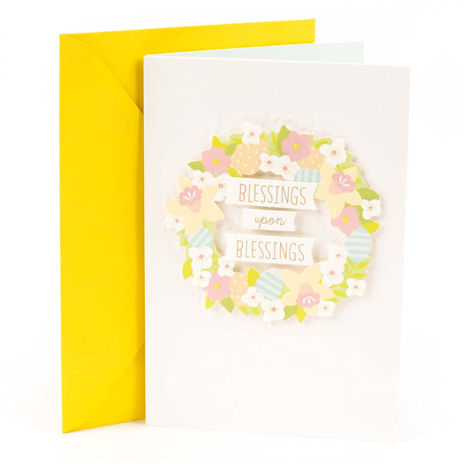 Amazon Hallmark Signature Easter Greeting Card Blessed Floral