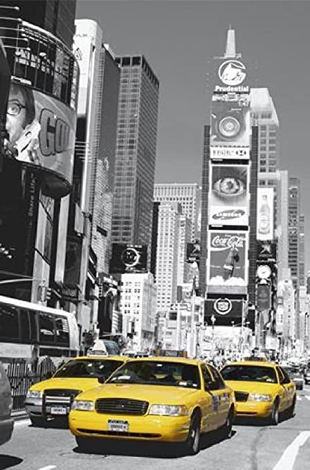 1art1 40564 New York Times Square Yellow Taxi Photo Poster