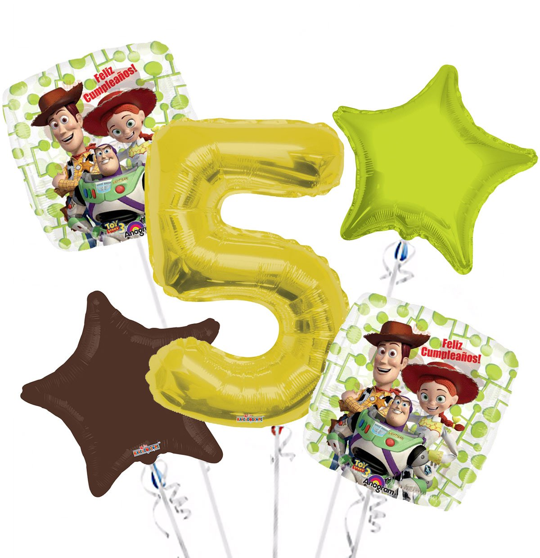 Amazon.com: Toys Story 03 Feliz Cumpleanos! Balloon Bouquet ...