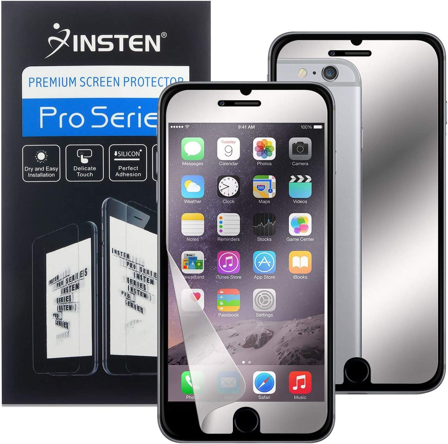 "Screen Protector Compatible with iPhone 6 Plus/ 6S Plus, Insten Mirror Screen Protector Compatible with iPhone 6 Plus/ 6S Plus (5.5"")"